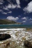 海滩cala mallorca ratjada 库存图片