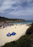 海滩cala mandia 免版税库存照片