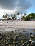 海滩caleta多米尼加共和国的la共和国romana 免版税库存图片