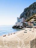 海滩caleta 免版税图库摄影