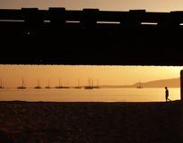 海滩calvi 免版税库存照片