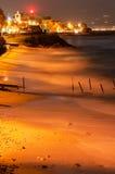 海滩cannitello 免版税库存照片
