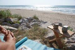 海滩cappucino s二 库存照片
