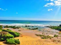 海滩Carcavelos 免版税库存图片