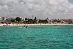 海滩carmem del墨西哥playa尤加坦 库存照片
