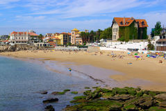 海滩cascais 库存照片
