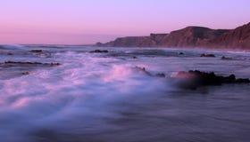 海滩castelejo执行普腊亚sagres 免版税图库摄影