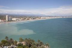 海滩castellon peniscola西班牙 库存图片