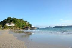 海滩cenang langkawi 库存图片