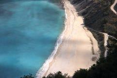 海滩cephalonia myrtos 库存照片
