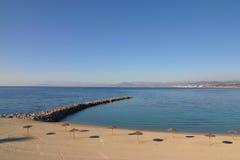海滩ceuta 免版税库存图片