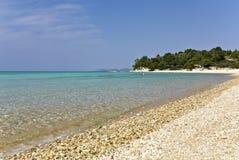 海滩chalkidiki希腊 图库摄影