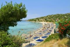 海滩chalkidiki 免版税图库摄影