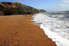 海滩charmouth 免版税库存图片