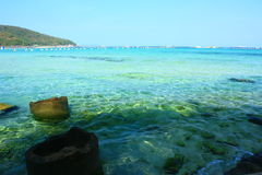 海滩chonburi酸值larn pattaya tawean泰国 免版税库存图片