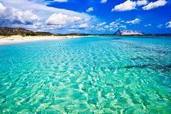 海滩cinta意大利la 免版税库存图片