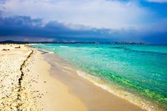 海滩cinta la 免版税库存图片