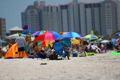 海滩clearwater视图 免版税库存图片