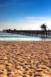海滩clemente码头圣 库存照片