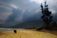 海滩co lang 免版税图库摄影