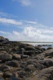 海滩connemara岩石的爱尔兰 库存图片