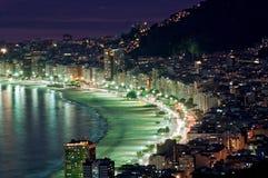 海滩copacabana 免版税库存图片