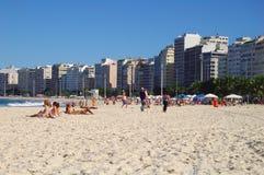 海滩copacabana 库存图片