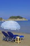 海滩corfu海岛sidari 免版税库存照片