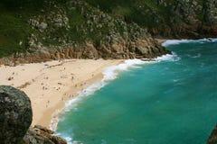 海滩cornwall英国 库存图片