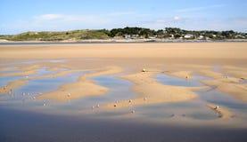 海滩cornwall英国padstow 免版税库存图片
