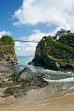 海滩cornwall newquay的英国 库存图片