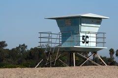 海滩coronado救生员塔 免版税库存图片
