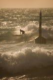 海滩cottesloe冲浪者 库存照片