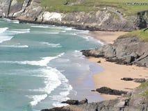 海滩coumeenole幽谷爱尔兰半岛 图库摄影