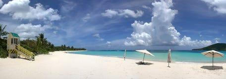 海滩culebra佛拉明柯舞曲海岛 免版税库存照片