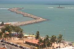 海滩da普腊亚redinha 库存照片