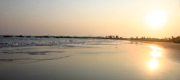 海滩danang越南 库存照片
