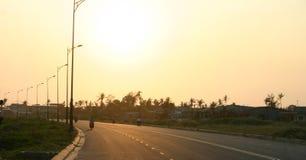 海滩danang越南 库存图片
