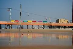 海滩daytona码头 免版税库存图片
