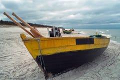 海滩debki波兰 免版税库存图片