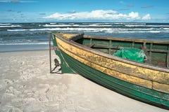 海滩debki波兰 免版税图库摄影