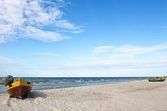 海滩debki波兰 免版税库存照片