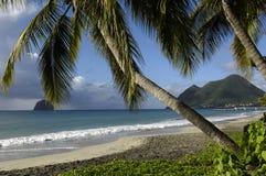 海滩diamant le马提尼克岛 免版税库存图片