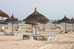 海滩djerba 图库摄影