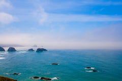 海滩ecola俄勒冈公园岩石状态美国 库存照片