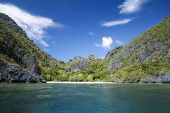 海滩el nido palawan菲律宾 图库摄影