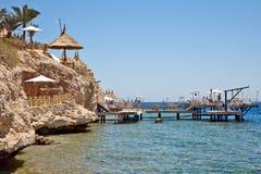 海滩el sharm回教族长 图库摄影