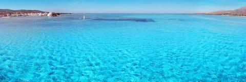 海滩elafonissos 库存图片