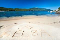 海滩elba forno海岛 免版税库存图片