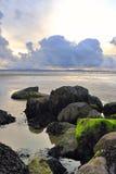 海滩enniscrone 免版税图库摄影